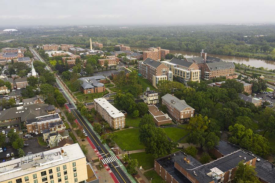 Lyndhurst NJ - Aerial View Suburban Town